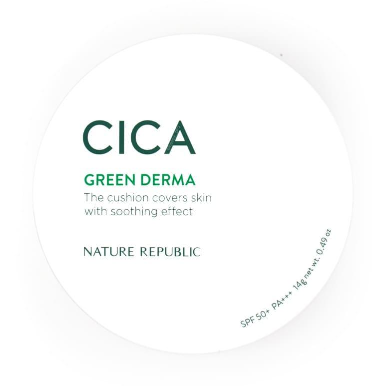 NATURE REPUBLIC'S GREEN DERMA MILD CICA SERUM COVER CUSHION REVIEW