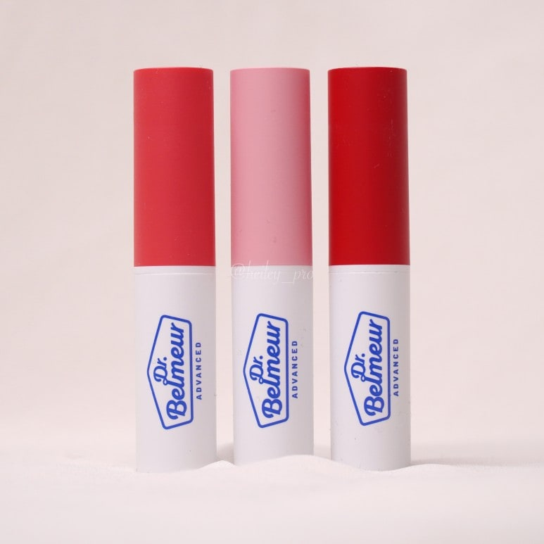DR. BELMEUR'S ADVANCED CICA TOUCH LIP BALM ALL COLORS LIP SWATCH REVIEW