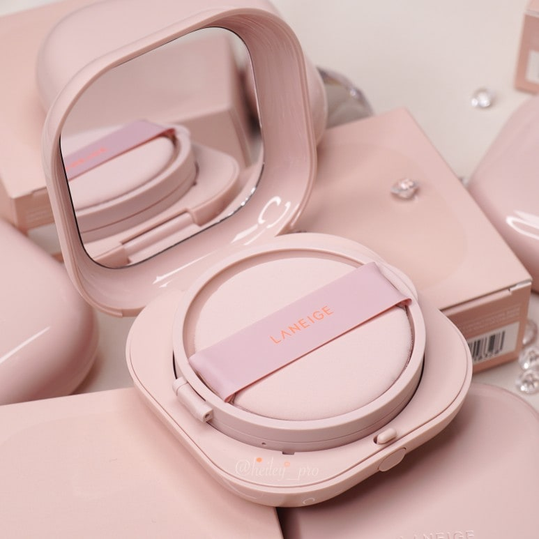 LANEIGE'S NEO CUSHION GLOW ALL COLORS FACE SWATCH REVIEW