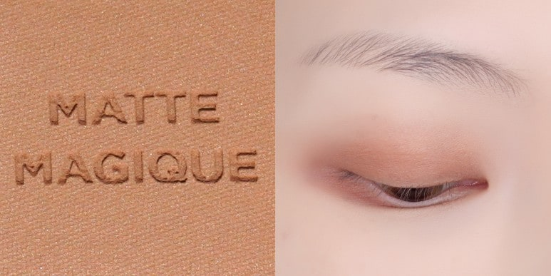 HOLIKA HOLIKA'S MATTE MAGIQUE COLLECTION MY FAVE MOOD EYE PALETTE ALL COLORS EYE SWATCH REVIEW