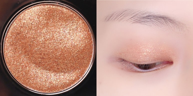 CLIO'S PRISM AIR EYE PALETTE NO.3 GOLD BROOCH ALL COLOR EYE SWATCH REVIEW